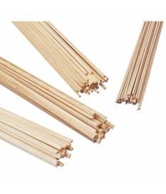 Bastoncini quadrati di pino, 1 metro, 5x5 mm