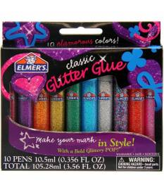 10 colle a penna glitterata Elmer\'s