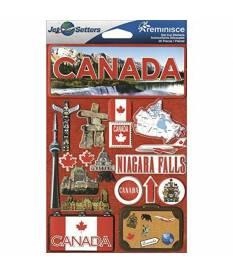 Adesivi Jet Setters Dimensional Stickers, Canada