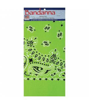 Bandana Paisley  Verde neon
