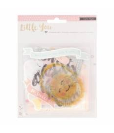 Cartoncini ephemera in carta Little You, Girl