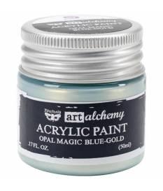 Colore acrilico Art Alchemy Finnabair, Blu opaco/oro