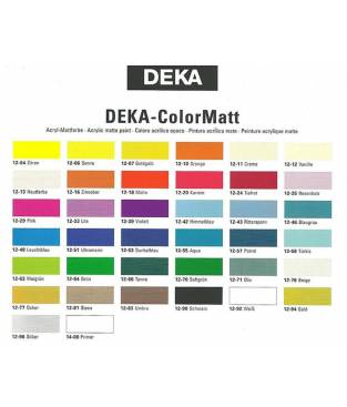 Colore acrilico Deka Colormatt 25ml Rosso Intenso