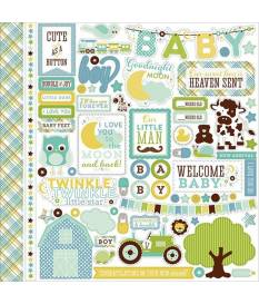 Echo Park Paper StickersBundle of Joy  Baby Boy