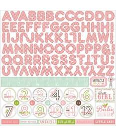 Echo Park stickers Bundle Of Joy, Baby Girl Alfabeto
