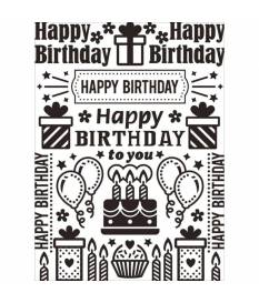 Embossing Folder Darice, Birthday Collage