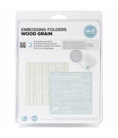 Embossing folder Goosebumpz, Woodgrain