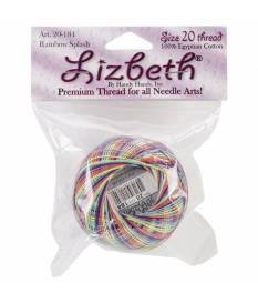 Filo in cotone Lizbeth Cordonnet Size 20, Rainbow Splash