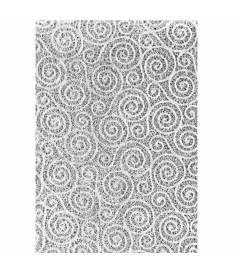Foglio di carta Pizzo Bianca motivo filigranato a spirale, 48,5x66,7 cm