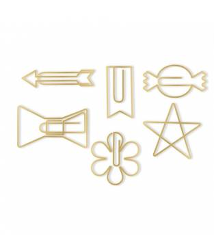 Graffette decorative Oh Goodie! Gold Shapes, 24 pz