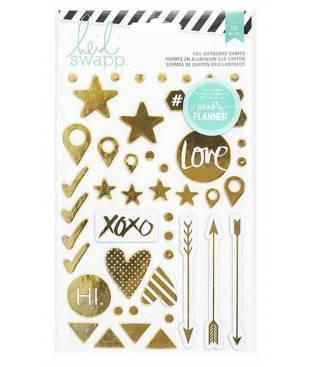 Heidi Swapp foil stickers 50pz, Hello Beautiful