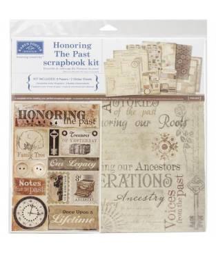 Kit pagine per Scrapbook Karen Foster, Honoring the past