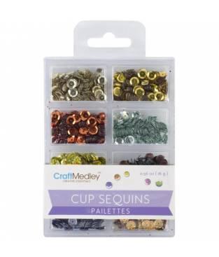 Lustrini Cup Sequins, Dazzling Metallics