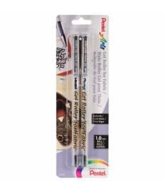 Penna gel per tessuti 1 mm, Nera 2pz