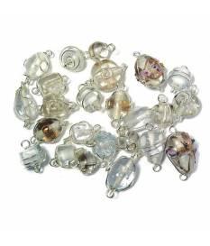 Perle in vetro Cristallo di Rocca con filo in argento, da 12 a 25 mm