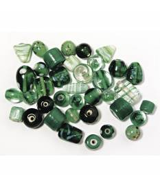 Perle smeraldo di vetro. Bigiotteria 6-18 mm