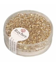 Perline a doppio foro colore oro trasparente 2,5x5 mm