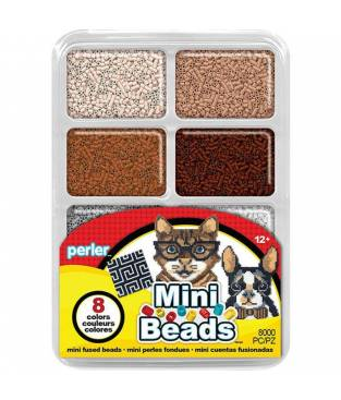 Perline da Stirare in Scatola Contenitore 8000 pezzi Perler - Colori Neutri