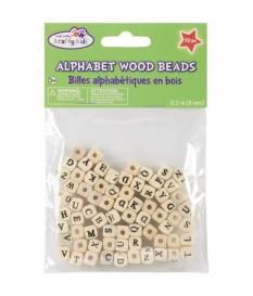 Perline in Legno 8mm - 70 pezzi Lettere dell' Alfabeto