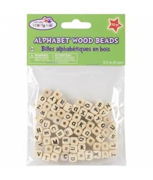 Perline in Legno 8mm - 70 pezzi Lettere dell\' Alfabeto