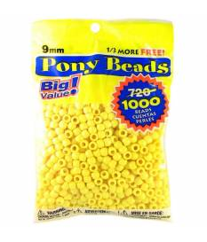 Perline Pony Beads, Opaque Lemon