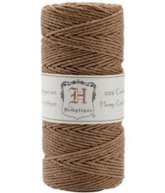 Rocchetto Corda di Canapa 62,5m 50 g Hemptique  - Marrone Chiaro