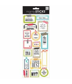 Sayings Stickers Washi Tape Shapes, Me & My Big Ideas