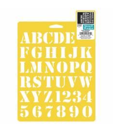 Stencil alfabeto basic giallo