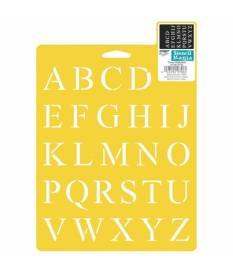 Stencil alfabeto times giallo