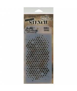 Stencil Bubble stratificato by Tim Holtz, 13x30 cm