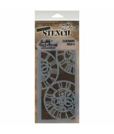 Stencil Clockwork stratificato by Tim Holtz, 13x30 cm