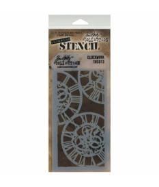 Stencil Clockwork stratificato by Tim Holtz, 13x30 cm
