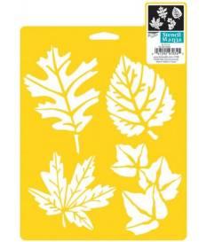 Stencil con foglie di vari tipi 18x2,5 cm