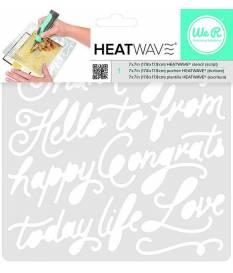 Stencil Heatwave Script, 19x19 cm