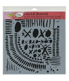 Stencil XOXO, Crafter\'s Workshop 30x30 cm