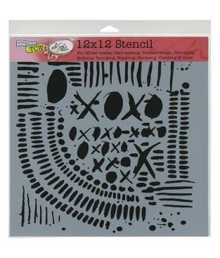 Stencil XOXO, Crafter\'s Workshop 30x30 cm