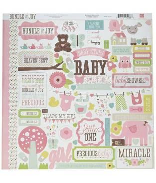 Stickers Bundle of Joy Girl, Element