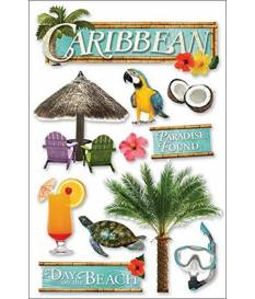 Stickers Caribbean 3D, Paper House
