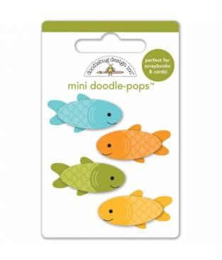 Stickers Happy Camper Mini Fishies 3D, Doodlebug Doodle-Pops 7x9 cm
