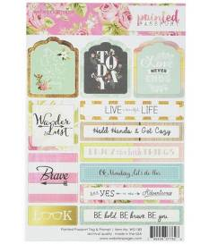Stickers Painted Passport, Tags & Prompts