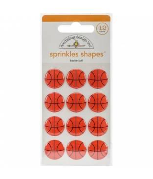 Stickers Sprinkles Shapes in smalto lucido, Slam Dunk Basketballs, Doodlebug