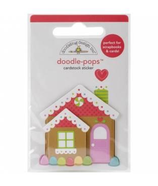 Stickers Sugarplums Candy Cottage 3D, Doodlebug Doodle-Pops 6x9 cm
