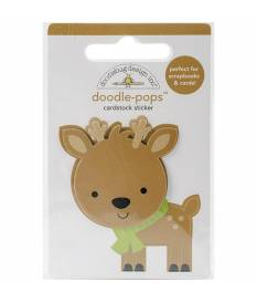 Stickers Sugarplums Dasher 3D, Doodlebug Doodle-Pops 6x9 cm