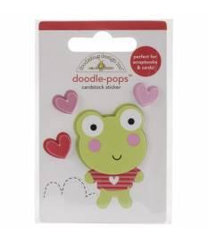 Stickers Sugarplums Leapfrog 3D, Doodlebug Doodle-Pops 6 x 9 cm