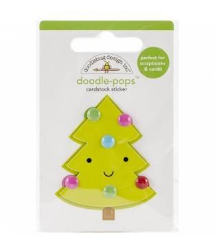 Stickers Sugarplums Merry Tree 3D, Doodlebug Doodle-Pops 6x9 cm