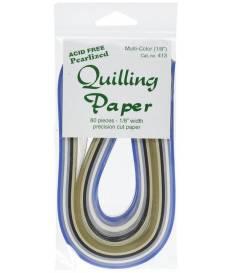 Strisce Quilling di Carta 3mm 80 pezzi - 8 Colori Perlati