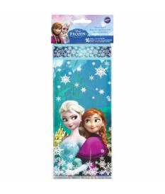 16 Sacchetti di plastica Frozen 10x24 cm