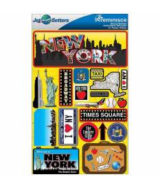 Adesivi Jet Setters Dimensional Stickers, New York