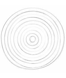 Anelli in metallo rivestito Bianco, 20 cm