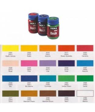 Colore per tessuti Deka Perm Deck 25 ml Bianco